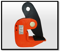 Horizontal Plate Lifting Clamp spring loaded