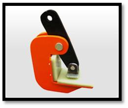 Non marring plate lifting clamp