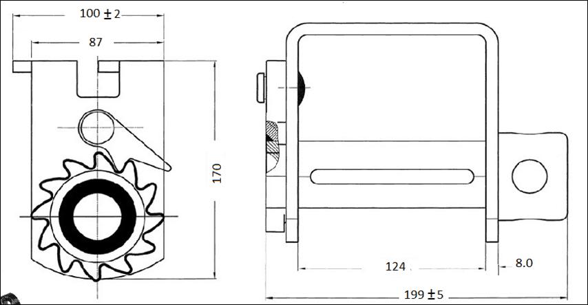 Trailer Winch –Deep Profile Double L Track Slider