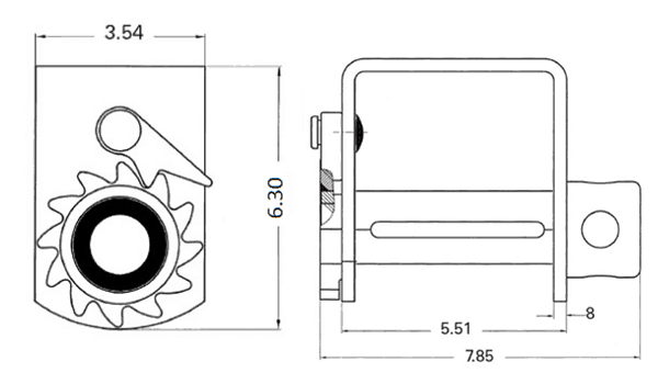 Trailer Winch – Storable Weld-On