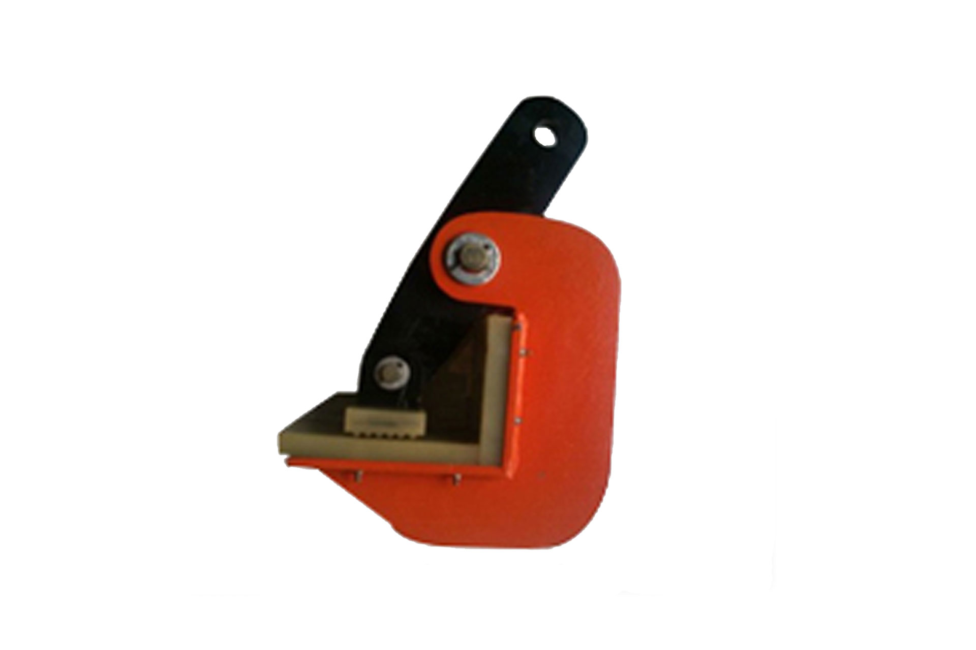 Non marring with spring loaded plate lifting clamp